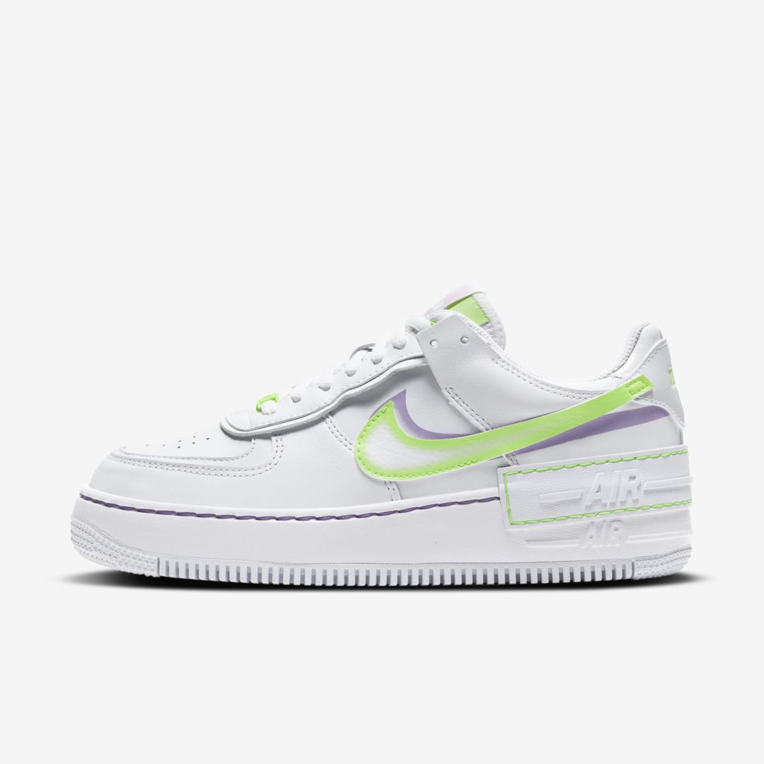 Nike Leathers AIR FORCE 1 SHADOW WOMEN'S SHOE (WHITE)