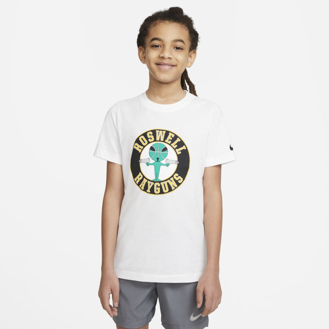 Nike SPORTSWEAR BIG KIDS' (BOYS') T-SHIRT (WHITE)