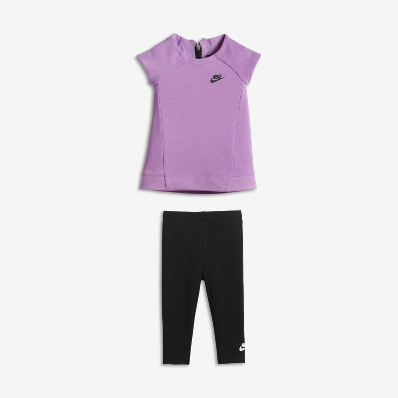 Nike Tech Fleece Two-Piece Baby& Toddler Girls' Set - Purple
