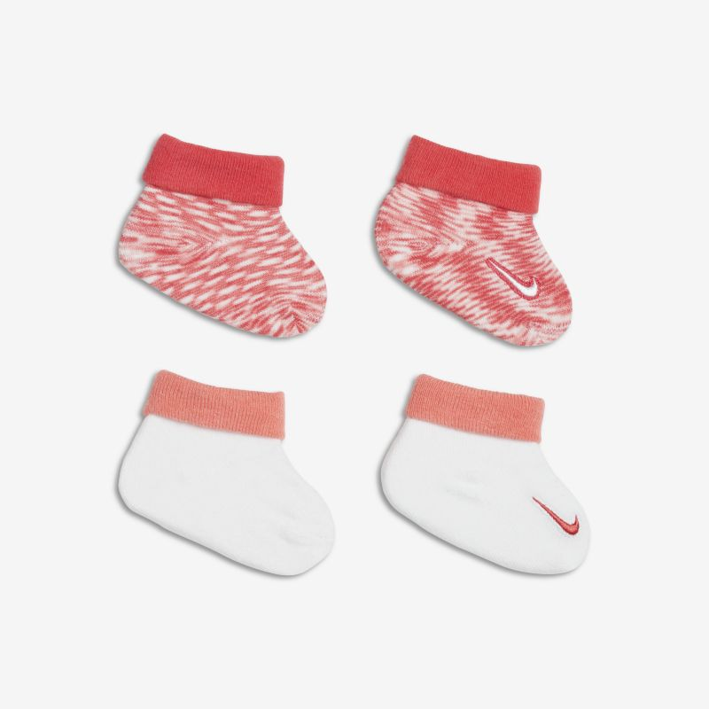 Nike Marled Knit Baby Booties (2 Pack) - Pink
