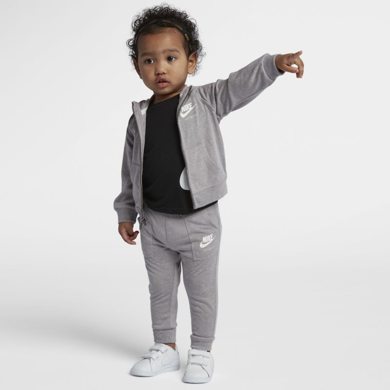 Nike Gym Vintage Baby& Toddler Hoodie And Trousers Set - Grey