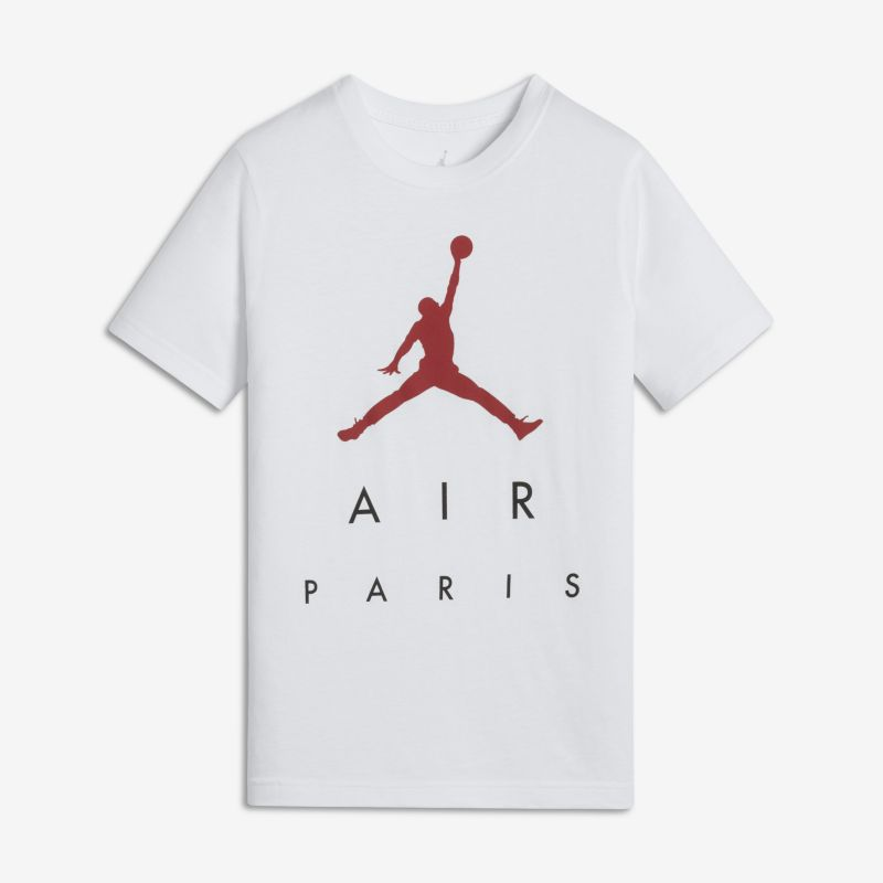 Jordan Sportswear Paris City Older Kids'(Boys') T-Shirt - White