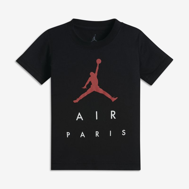 Jordan Sportswear Paris City Younger Kids'(Boys') T-Shirt - Black