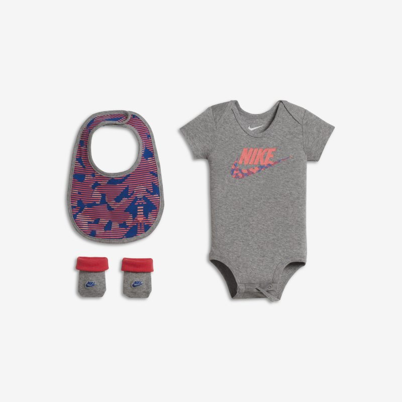 Nike Futura Three-Piece Baby&Toddler Set - Grey