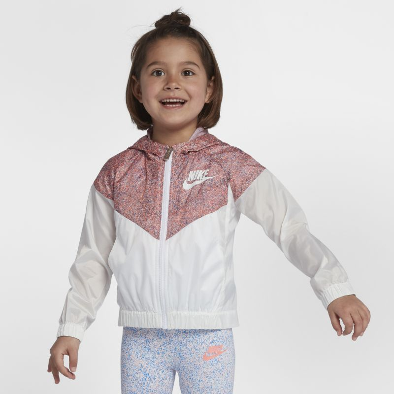 Nike Sportswear Windrunner Younger Kids'(Girls') Jacket - White