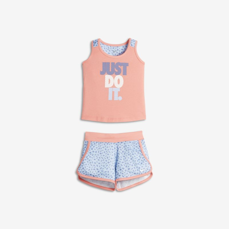 Nike Two-Piece Baby& Toddler Girls'Tank and Shorts - Blue