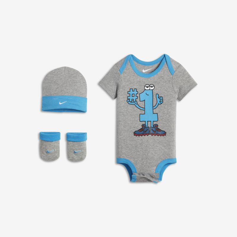Nike Number 1 Three-Piece Baby Set - Grey