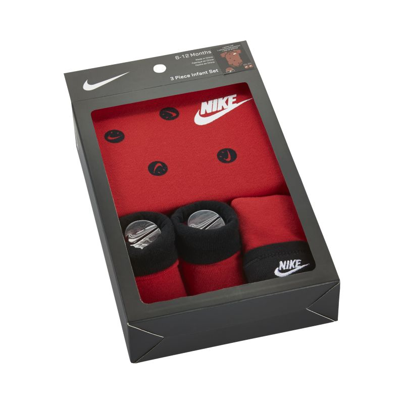 Nike Swoosh Happy Three-Piece Baby Set - Red