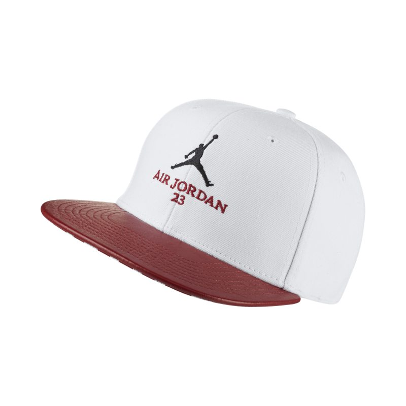 Jordan Retro 10 Snapback Adjustable Hat - White