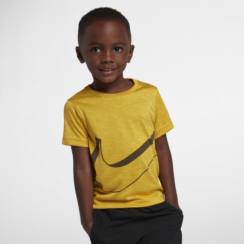 Nike Breathe Younger Kids'T-Shirt - Gold