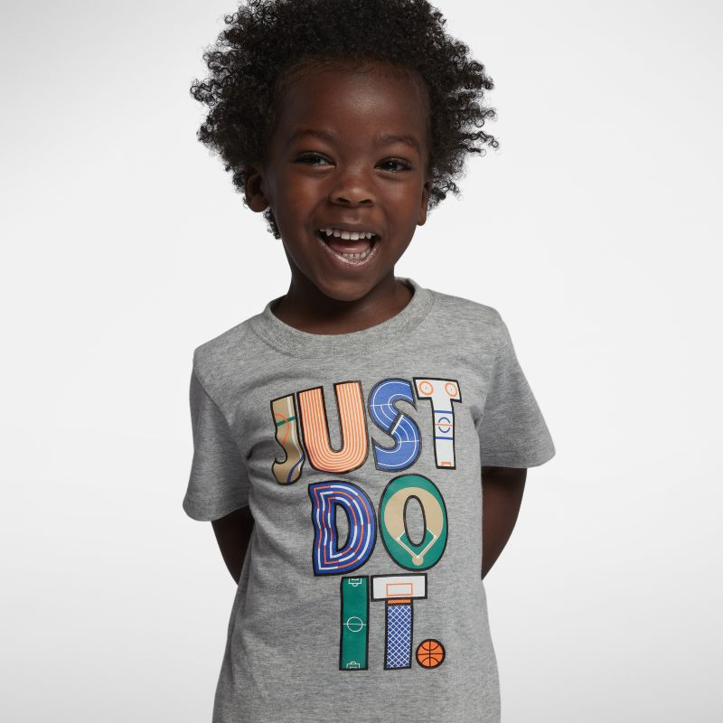 Nike Dri-FIT Baby and Toddler Just Do It T-Shirt - Grey