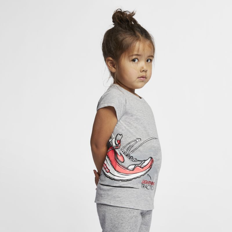 Nike Air Max 1 DNA Younger Kids'(Girls') T-Shirt - Grey