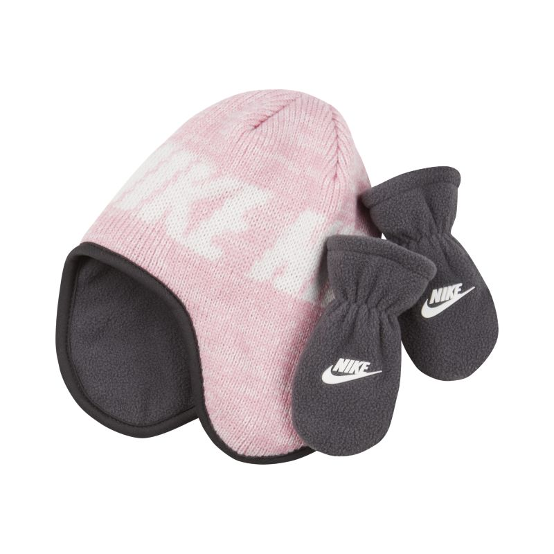 Nike Toddler 2-Piece Hat and Mittens Set - Pink