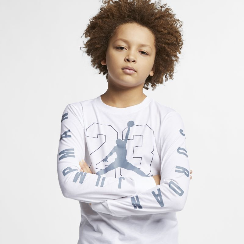 Jordan Jumpman 23 Older Kids' (Boys') Long-Sleeve Graphic T-Shirt - White