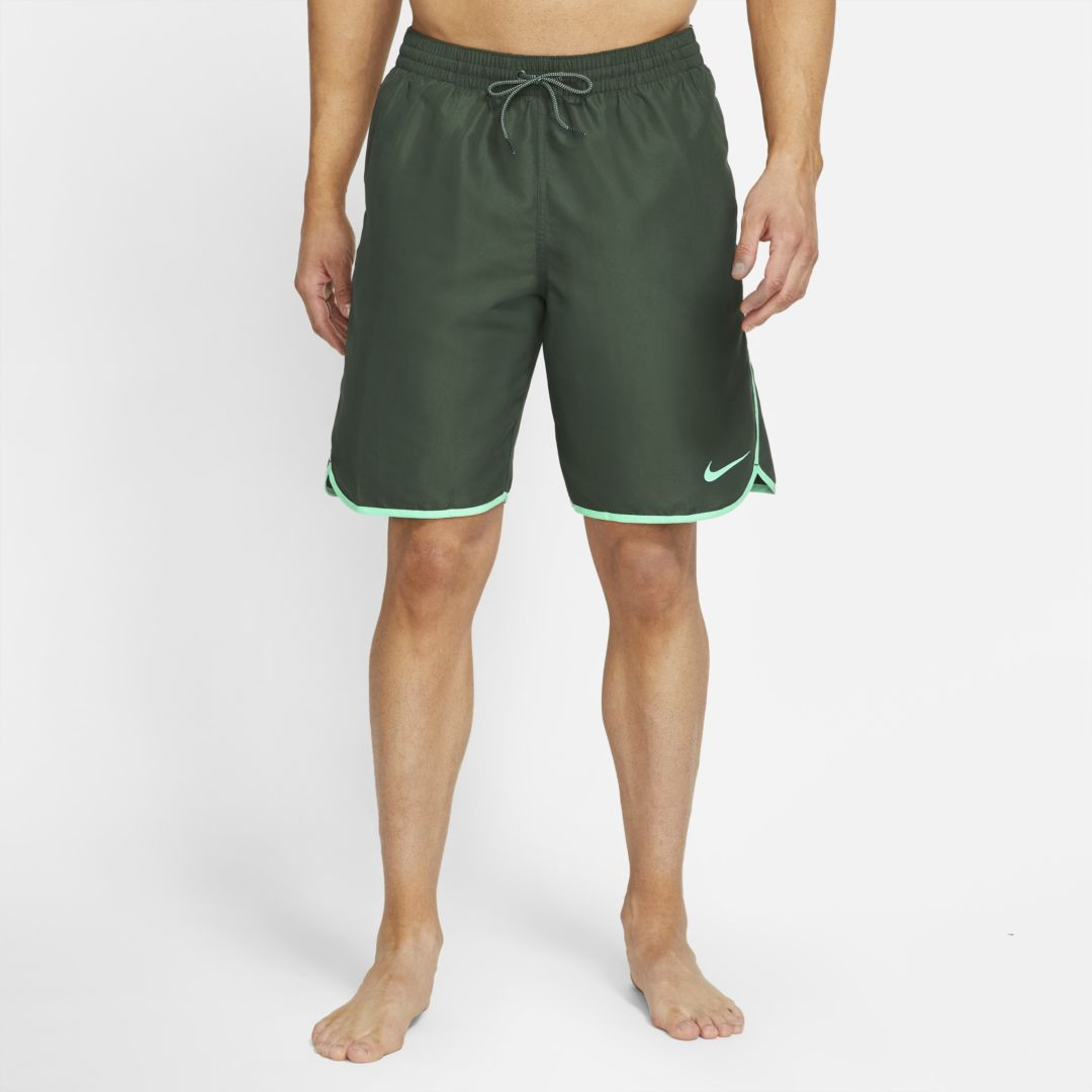 "Nike Diverge Men's 9"" Swim Trunks In Green Blade"