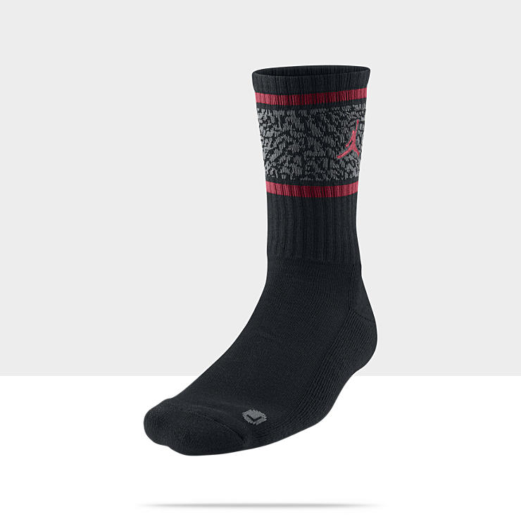 Jordan Elephant Crew Socks (Large/1 Pair)