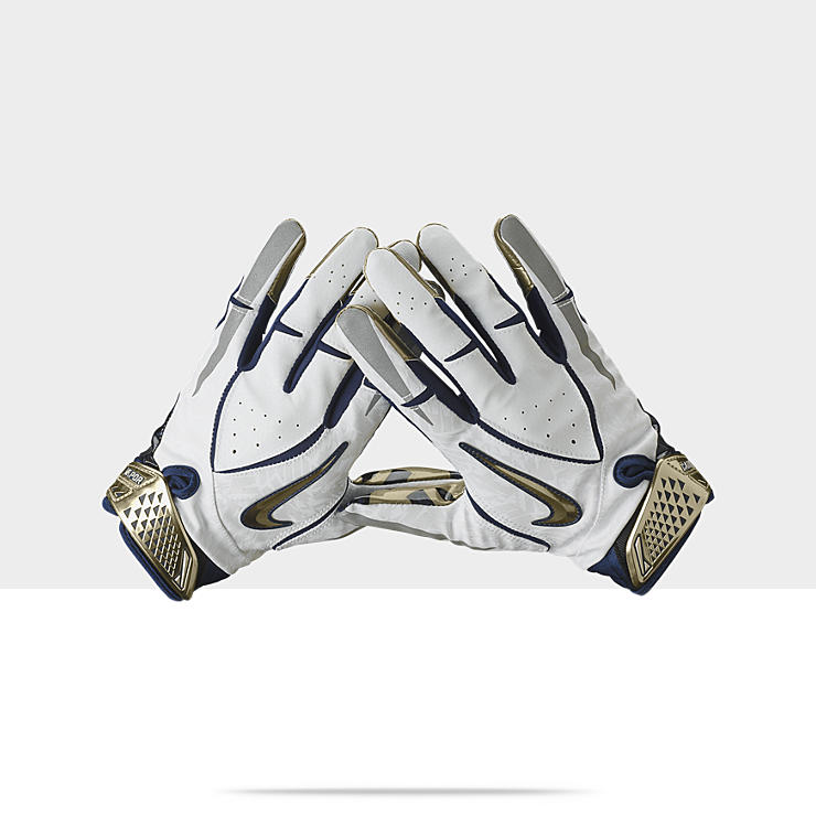 new styles 539b8 8498c White And Gold Nike Football Gloves. NIKE COLLEGE RIVALRY VAPOR JET (NAVY)
