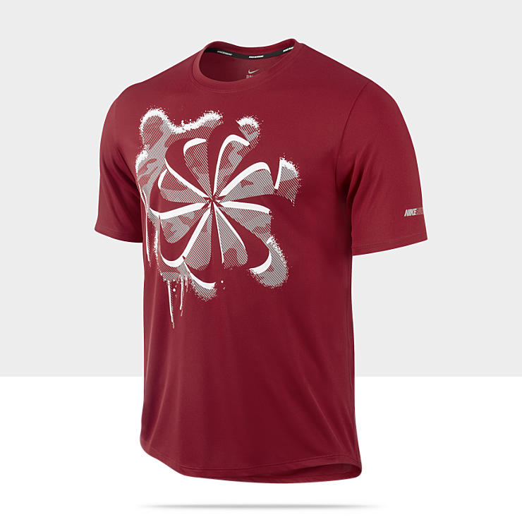 New the nike pinwheel red camouflage men 39 s running t shirt for Dri fit material shirts