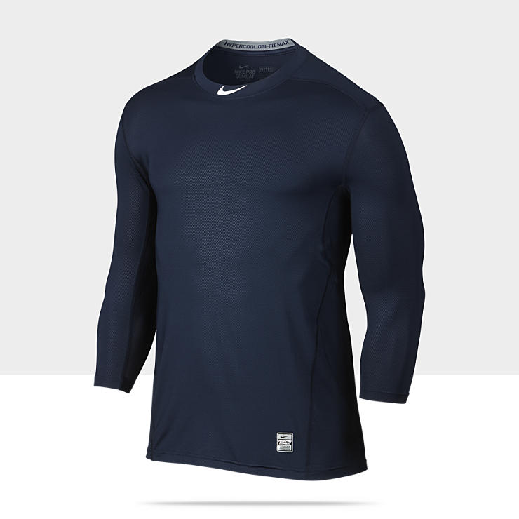 Nike Pro Combat Long Sleeve Shirt Fitted Activewear Tops
