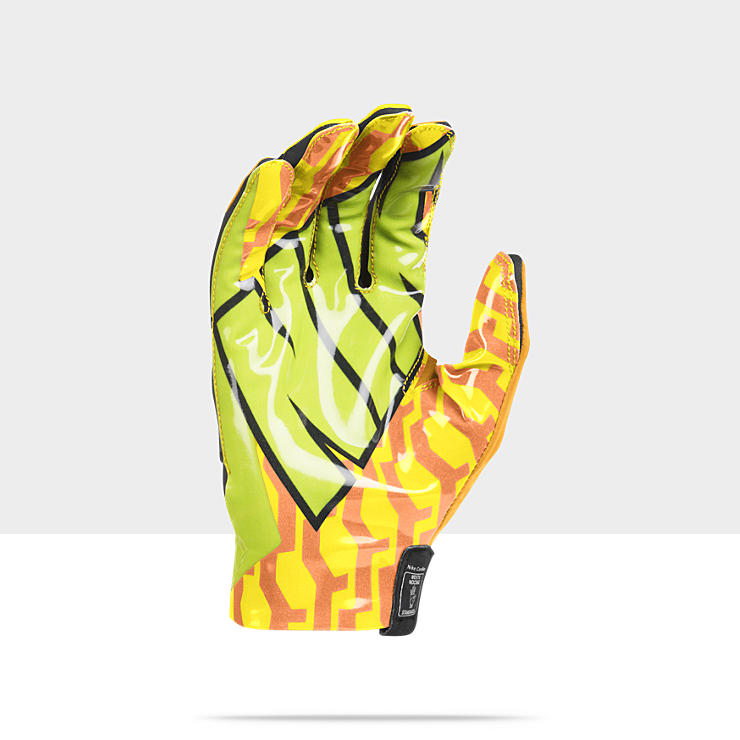 green and yellow nike football gloves