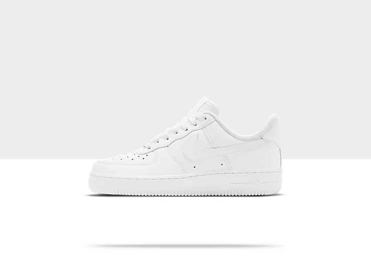 Nike Air Force 1 07 Women's Shoe. White/White , Style - Color # 315115 - 112