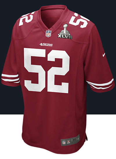 NFL Championship San Francisco 49ers (Patrick Willis) Men's Football Home Game Jersey
