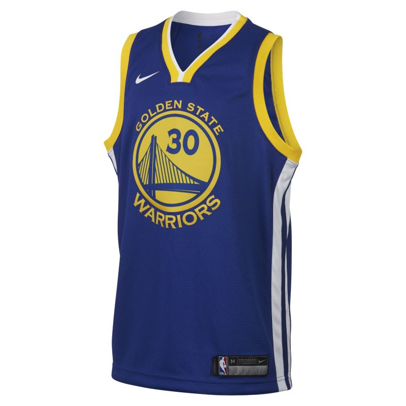 Stephen Curry Golden State Warriors Nike Icon Edition Swingman Older Kids'NBA Jersey - Blue