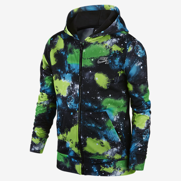 Nike SB Allover Galaxy Printed Full Zip Boys Hoodie. on