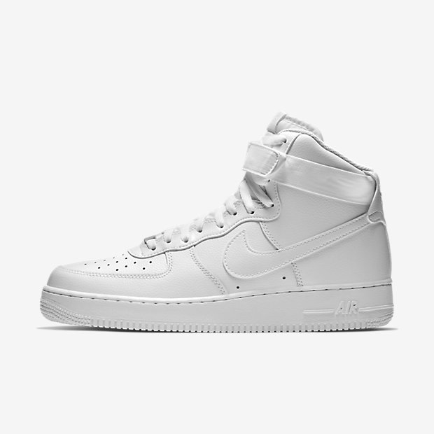 Nike Air Force 1 25th High All White Mens Running Trainers Shoes