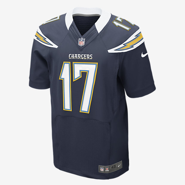 NFL Jersey's Mens San Diego Chargers Philip Rivers Nike Navy Blue Elite Jersey
