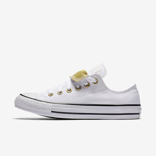 Converse Chuck Taylor All Star Double Tongue Low Top Women's Shoe (White)