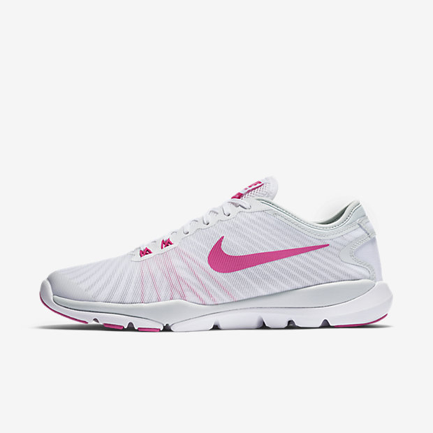 Nike Flex Supreme TR 4 Women's Training Shoe (White/Pink)