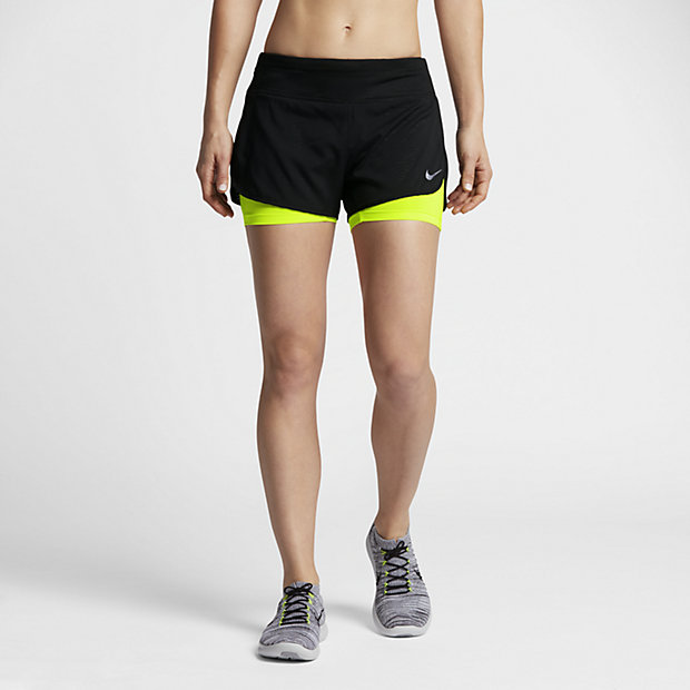 nike flex 2 in 1 women 39 s 3 approx running shorts. Black Bedroom Furniture Sets. Home Design Ideas