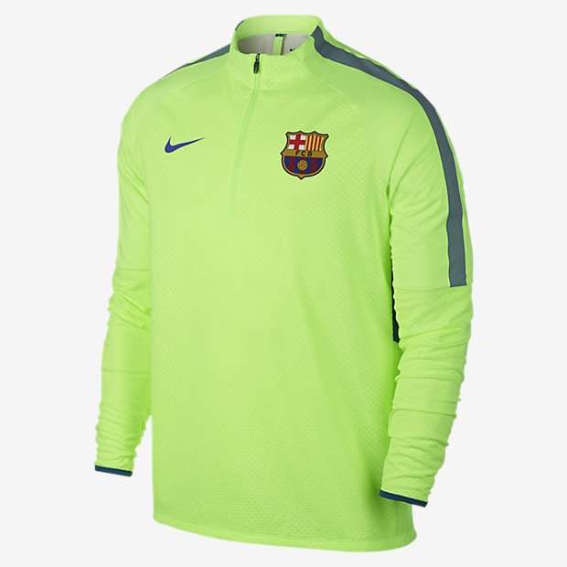 Nike Shield Strike Drill FC Barcelona 男款足球上衣。