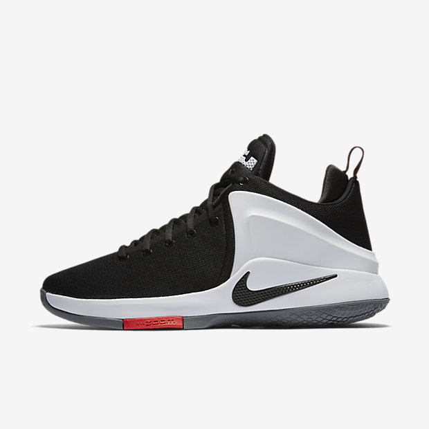 Nike Mens Lebron Witness Basketball Shoes (Black/White and White/Black)