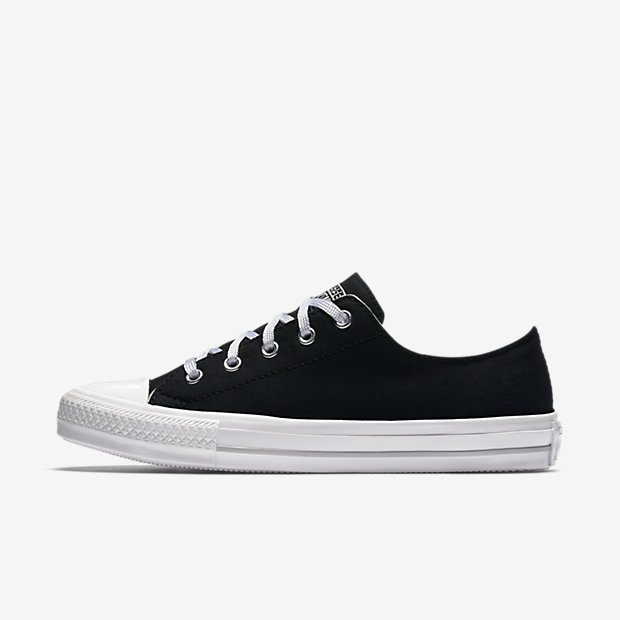 Converse Chuck Taylor All Star Gemma Low Top Womens Shoes (Black)