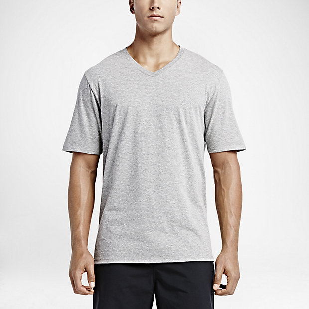Hurley Mens Staple V-Neck T-Shirt (Dark Grey Heather or White)