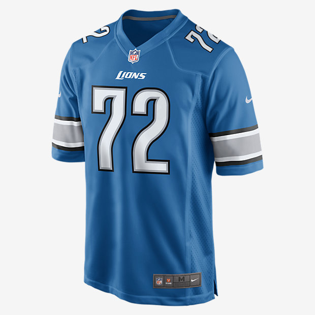Wholesale NFL Jerseys - NFL Detroit Lions (Laken Tomlinson) Men's Football Home Game ...