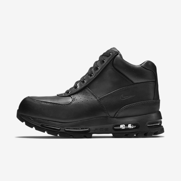 all black acg boots