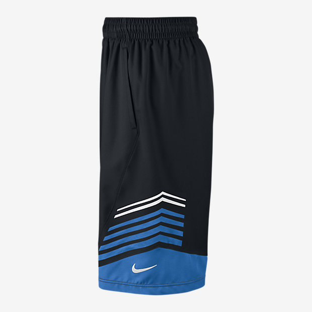 NEW NIKE HYPER ELITE BASKETBALL BLACK/COOL SKY BLUE DRI ...