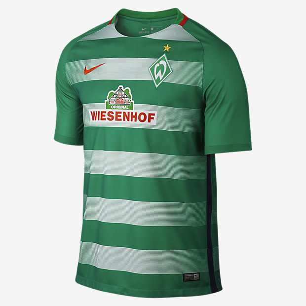 cheap for discount 3eec6 d55c0 2016/17 Werder Bremen Stadium Home Mens Football Shirt IL on PopScreen
