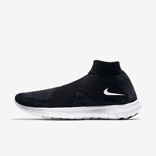 Nike Free RN Motion Flyknit 2017 Women's Running Shoe - Black