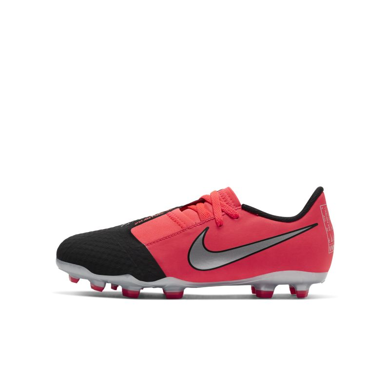 Nike Jr. Phantom Venom Academy FG fotballsko for gress til store barn - Red