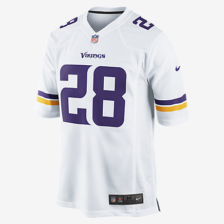 NFL Minnesota Vikings (Adrian Peterson) Men's Football Away Game ...