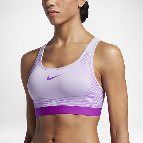 Nike Pro Hyper Classic Padded Women's Medium Support Sports Bra ...