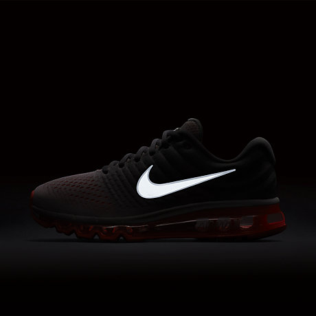 Men's/Women's Cheap Nike Air Max 2017 Leather Shoes Black/White