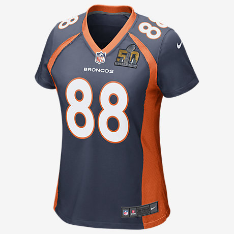 NFL Jersey's Men's Denver Broncos Demaryius Thomas Nike Orange Team Color Game Jersey