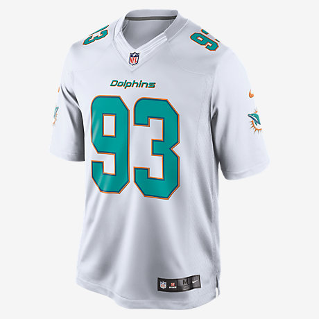 Mens Miami Dolphins Ndamukong Suh Nike White Limited Jersey