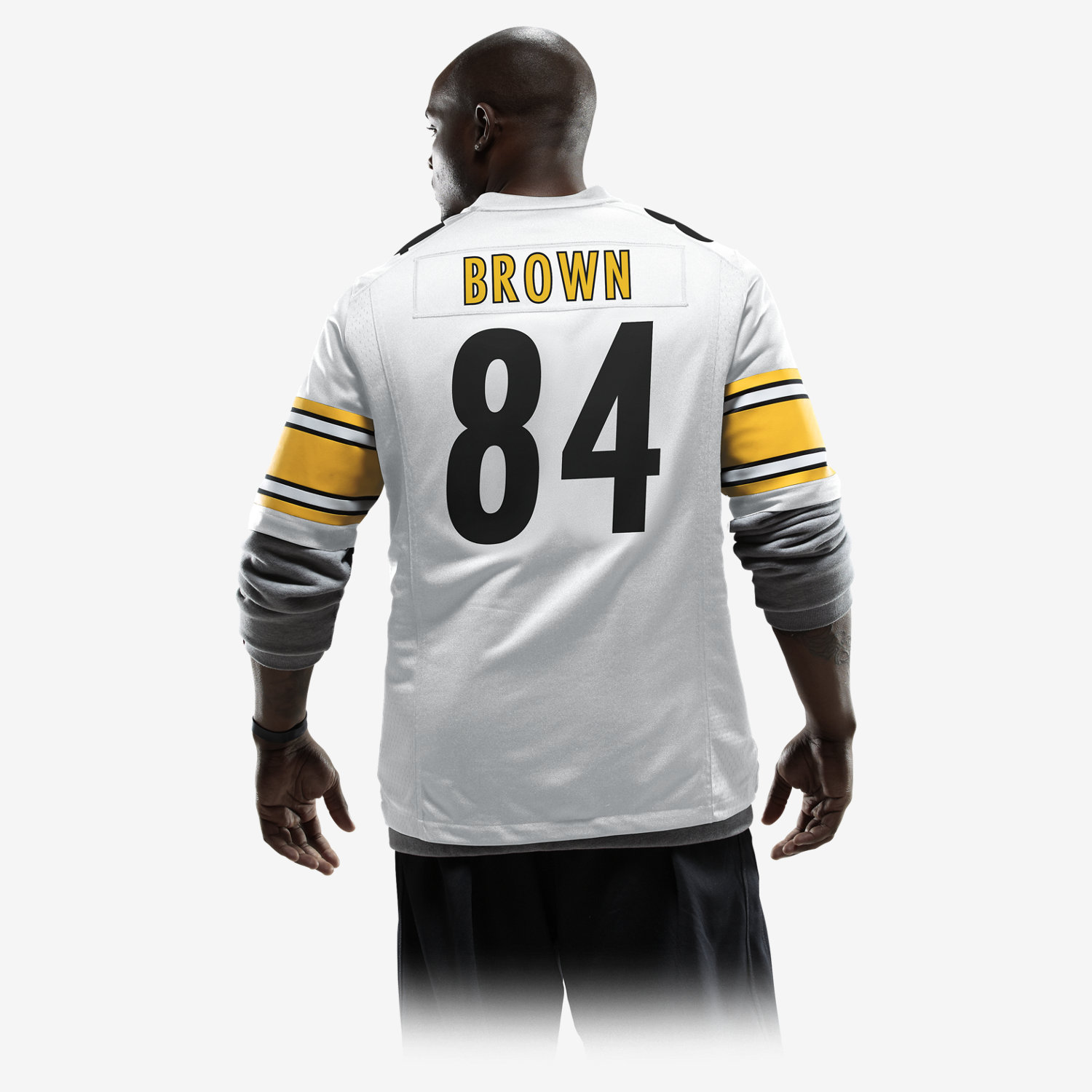 NFL Pittsburgh Steelers (Antonio Brown) Men's Football Away Game ...