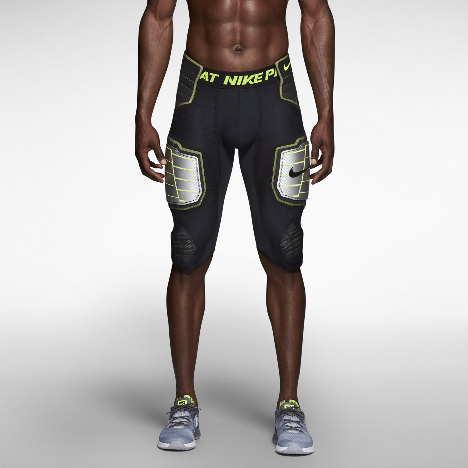 new nike pro combat hyperstrong padded compression football shorts pants tights ebay. Black Bedroom Furniture Sets. Home Design Ideas